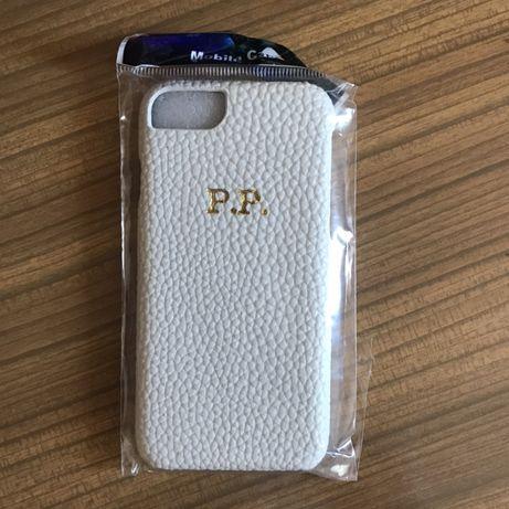 Case obudowa iphone 7 8 plecki plecy inicjały PP skóra