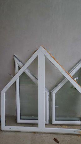 Okno z demontażu trapezowe