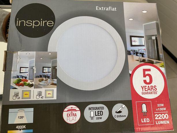 Focos brancos LED extraflat 205mm