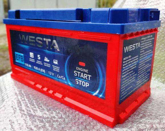 Аккумуляторы Westa Red EFB Start Stop 6СТ-63/78/110 А*ч
