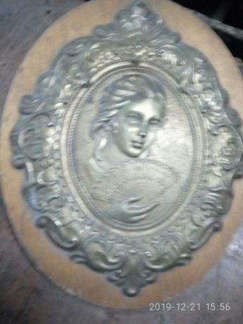 Картина латунь сувенир