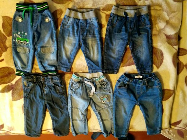 Брендовые джинсы на мальчика 6-24 мес