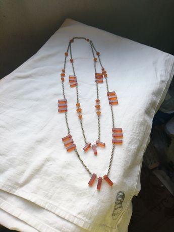 Отличный подарок .Винтаж одерелье янтарь .43,2 грамма.длина 74 см
