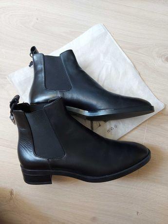 Новые кожаные ботинки зара zara женские