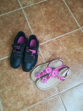 Adidasy sprandii dziewczece rozm. 34 oraz sandaly