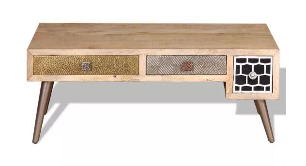 Vidaxl stolik kawowy z szufladami 105 x 55 x 41 cm NOWY