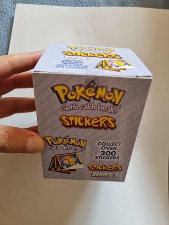 Pokemon stickers 30x10 unidades selado 1999 Nintendo coleção