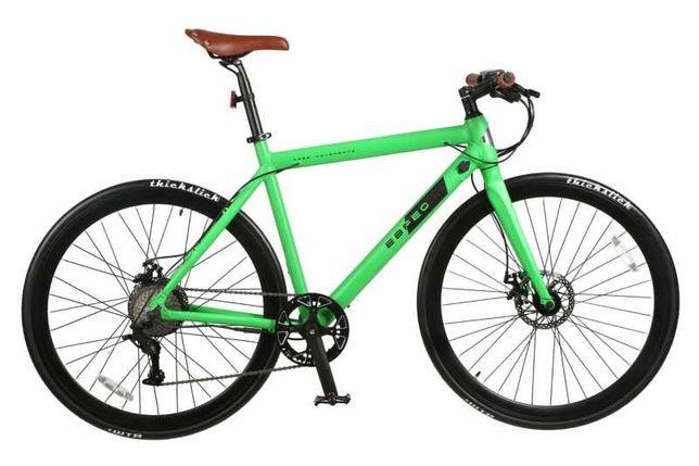 Rower elektryczny Workout iamelectric szosowy miejski zielony