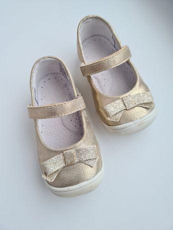 Złote baleriny dla dziewczynki r. 21 Kornecki