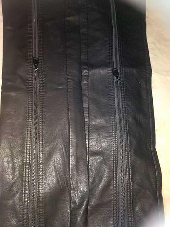 Męskie spodnie z Skóra naturalna ZARA MEN Stan idealny