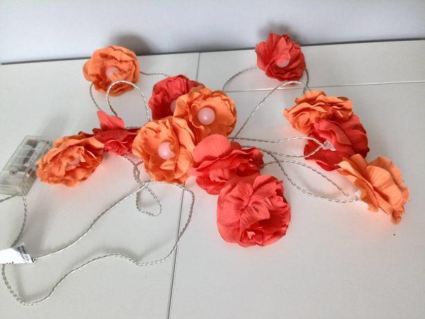 Girlanda swietlna kwiatki dla dziewczynki