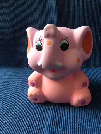 Skarbonka świnka, różowa, nowa