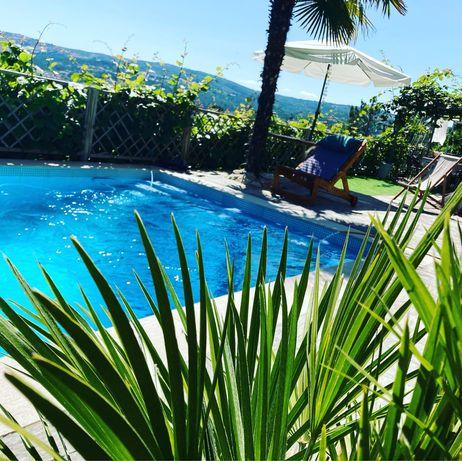 Casa férias e fim de semana v4  com piscina privada churrasqueira