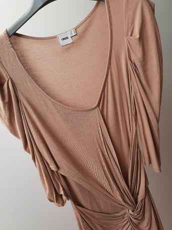 ASOS _ cudna Sukienka S 36 nude beżowa UK 10