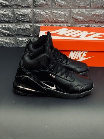 Кожаные зимние Nike Air Max 270 (Мех) Найк Аир Макс зимові мех кросовк
