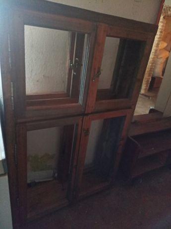 Вікна дерев'яні. Сосна, оброблені оліфою. Нові.