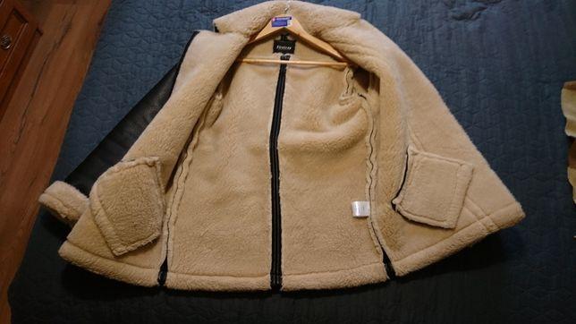 Куртка дубленка женская зимняя Firetrap Англия PU эко кожа