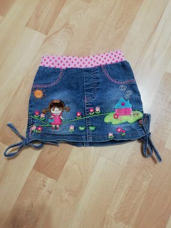 Джинсова спідничка/юбка на 1-1.5 роки