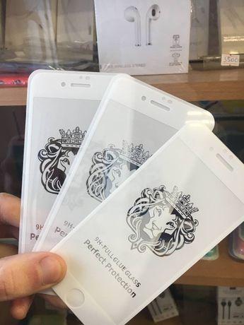 Стекло ОПТ Айфон 4/5/SE/6S+/7 plus/8/Xs/10/11 pro/12 скло iPhone 3D 5D