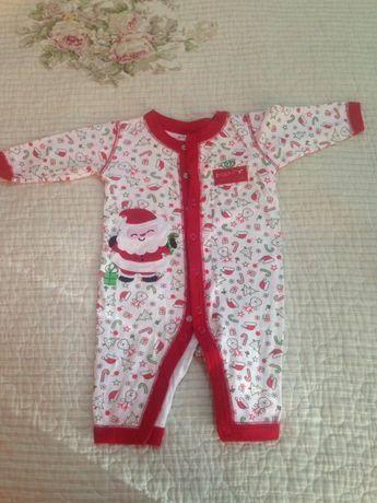Новогодний костюм боди 0-3 месяца