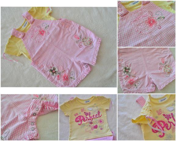 Ubranka dla dziewczynki 3-6m wiosna lato