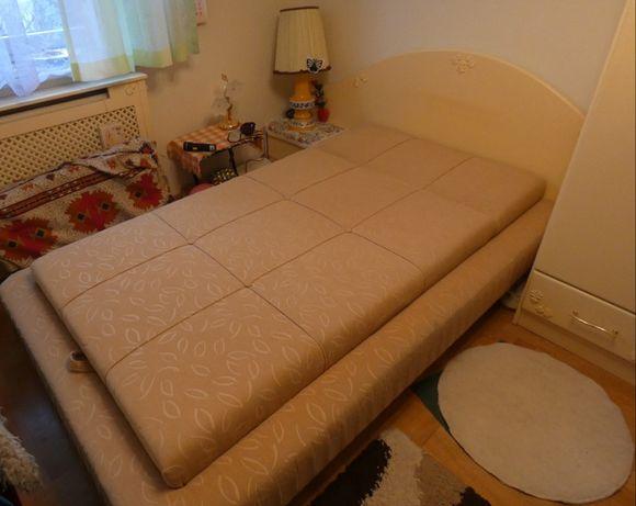 Łóżko , sypialnia, żółte, 100 cm, prawdziwe drewno. Stan idealny