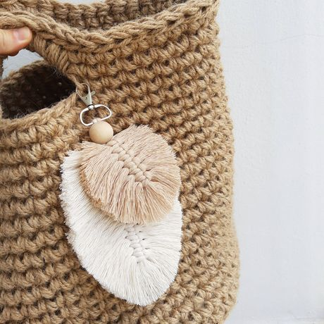 Brelok makrama Boho do kluczy torebki