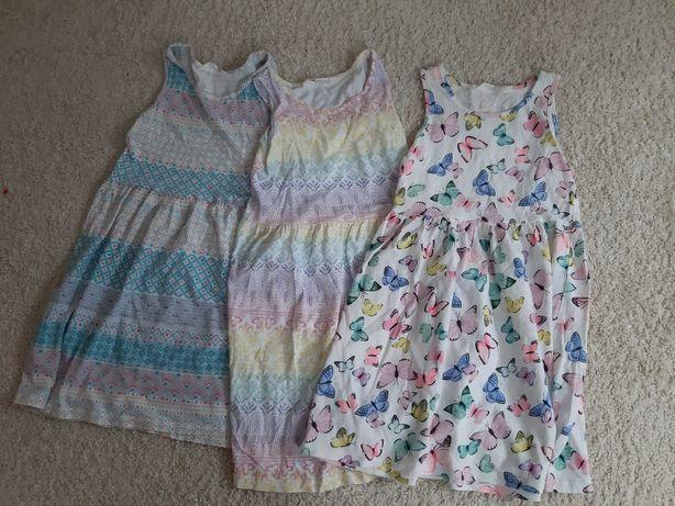Sukienki dziewczęce H&M rozm. 122/128