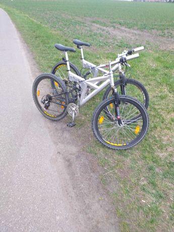 """2 x Rower HURRICANE rama alu.48 cm/koła 26""""/amor + wahacz/tarcze"""
