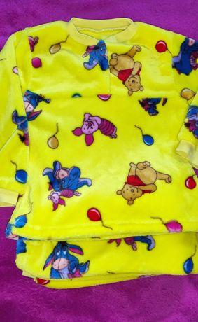 Пижама плюшевая на 7-8 лет