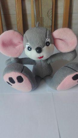 Maskotka szara mysz Śliczna Myszka jak nowa zabawka dla dziecka