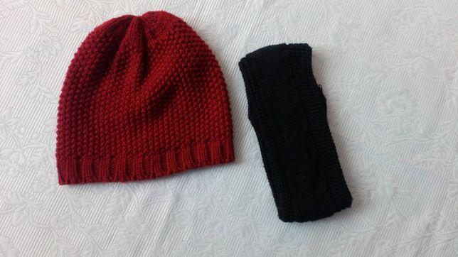 Шапка шапочка + пов'язка для дівчинки для девочки