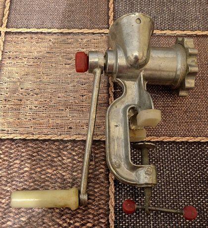 Мясорубка ручная металлическая, новая, СССР