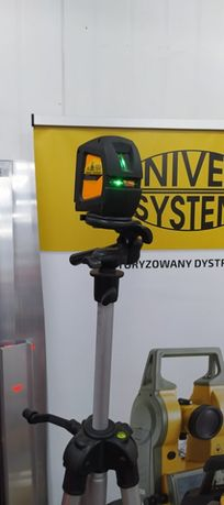 Niwelator laser krzyżowy wiązka zielona CL1G Nivel System + statyw