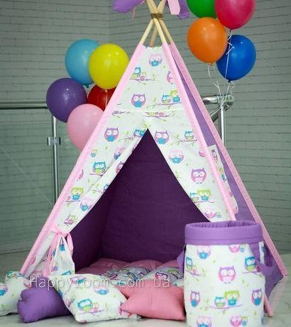 Вигвам для детей. Детская палатка. Шалаши. Домики для детей.