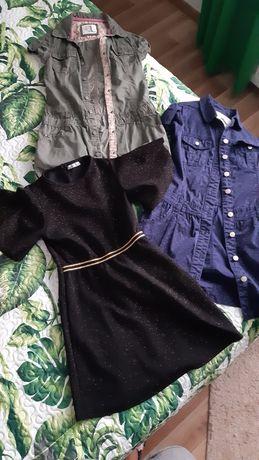 3 sukienki w rozmiarze 140 H&M i pepco stan bdb