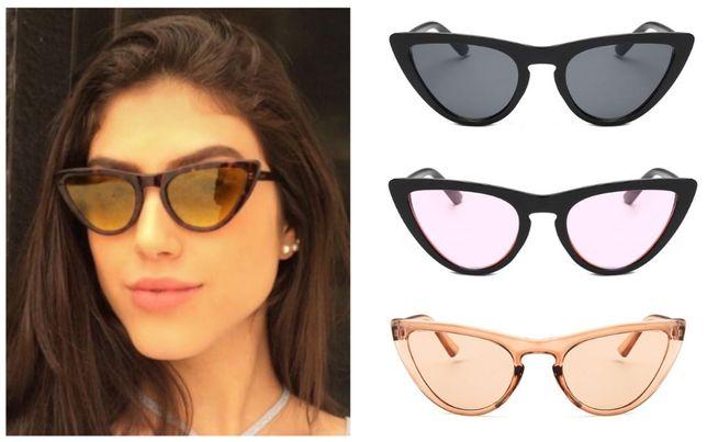 Новые элегантные солнцезащитные очки кошачий глаз