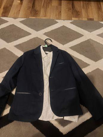 Marynarka r128cm +koszula cool club