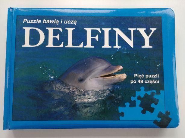 puzzle 5 zestawów delfiny