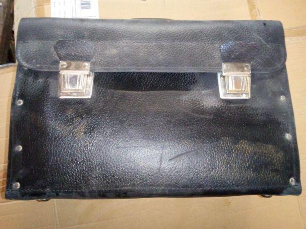 torba monterska skóra skórzana vintage
