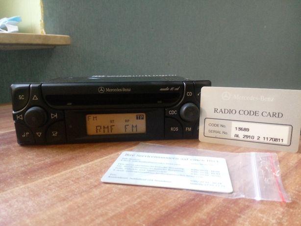 Radio Mercedes audio 10 cd w124 w201 w126 w140 w202 w210 + karta !!