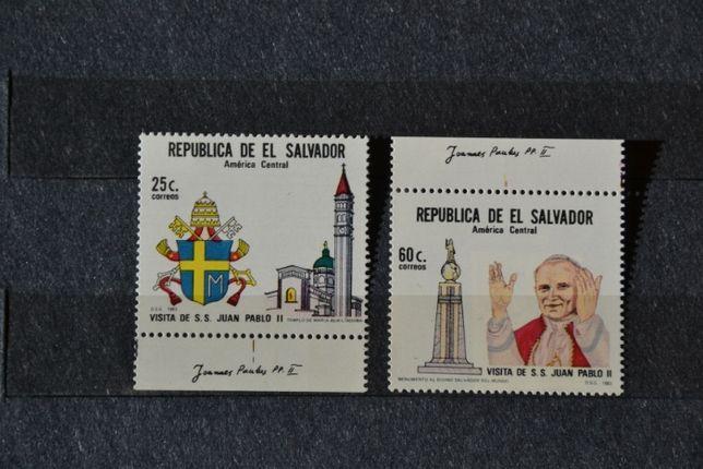 Znaczki. Salwador.. Papież Jan Paweł II **