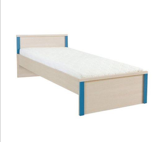 Łóżko caps brw niebieskie 90x200 ze stelażem z szufladą