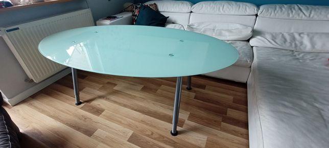 Szklany owalny stolik IKEA