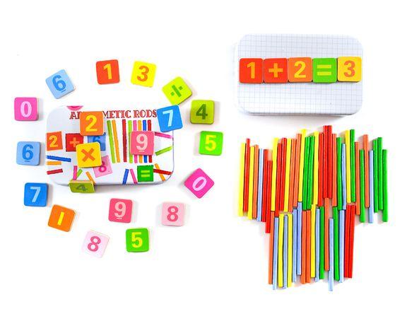 Patyczki do liczenia cyferki magnetyczne gra edu - nowa zabawka