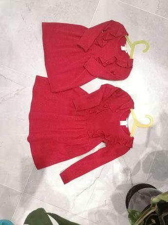 Sukienki dla sióstr firmy H&M rozmiary 110/116 i 92