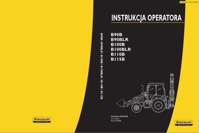 Instrukcja operatora New Holland B90B, B100B, B110B, B115B Jz. polski