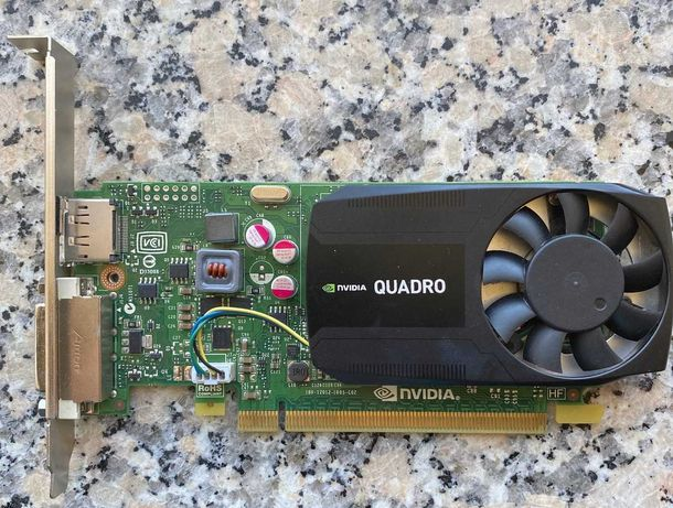 Placa Gráfica PNY Quadro K 620 (NVIDIA - 2GB DDR3) +DVI-I /VGA