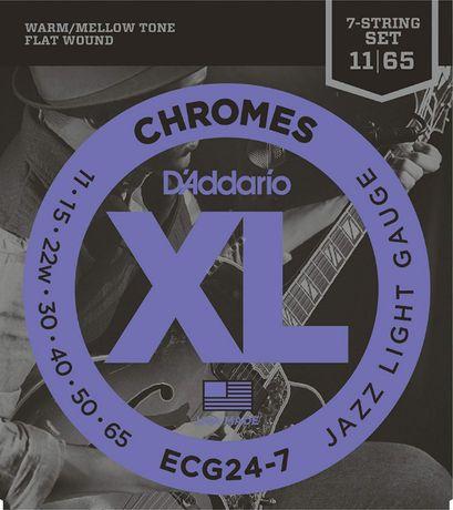 D'addario (11-65) - struny do gitary elektrycznej, 7 strun fla ECG24-7