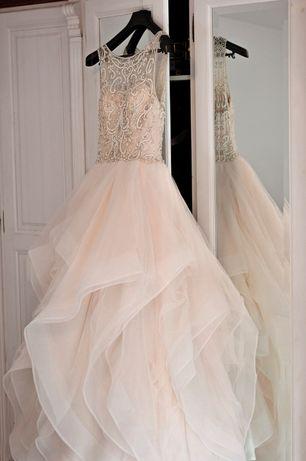 Suknia slubna Justin Alexander 9847 ivory nude 36 38 wesele